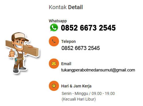 Nomor Telepon Tukang Tempah Perabot di Medan