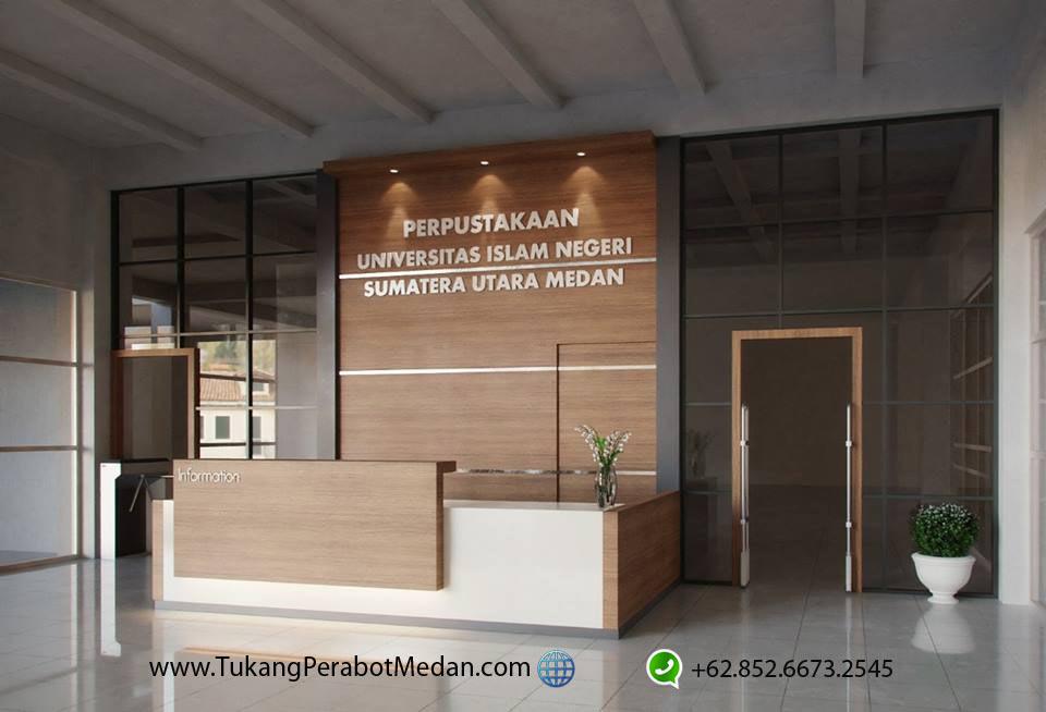 Jasa Pembuatan Meja Resepsionis Kampus di Medan